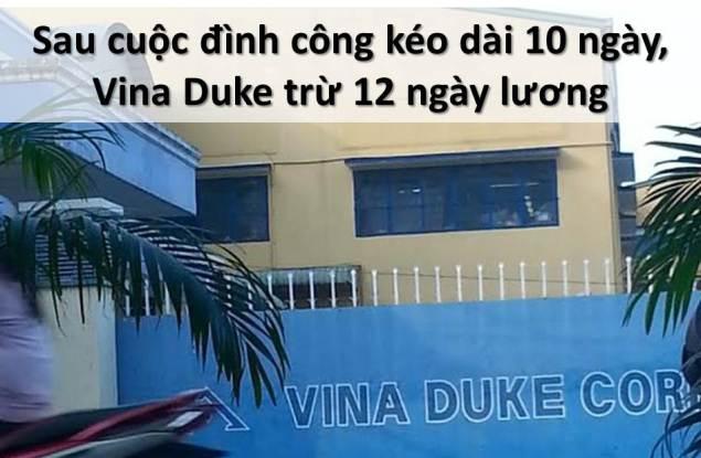ILLUS - BanTinLDV 20141107 Sau cuoc dinh cong keo dai 10 ngay, Vina Duke tru luong 12 ngay; strike deuter bags