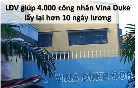 ILLUS - BanTinLDV 20150406 LDV giup 4000 cn Vina Duke lay lai hon 10 ngay luong